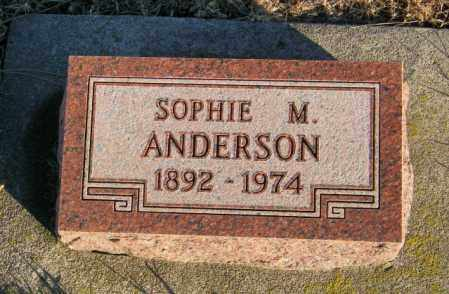 ANDERSON, SOPHIE M - Lincoln County, South Dakota | SOPHIE M ANDERSON - South Dakota Gravestone Photos