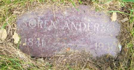 ANDERSON, SOREN - Lincoln County, South Dakota | SOREN ANDERSON - South Dakota Gravestone Photos