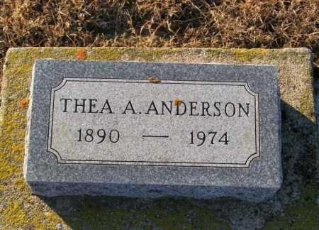 ANDERSON, THEA A - Lincoln County, South Dakota | THEA A ANDERSON - South Dakota Gravestone Photos