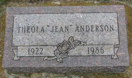"""ANDERSON, THEOLA """"JEAN"""" - Lincoln County, South Dakota 