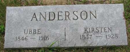 ANDERSON, UBBE - Lincoln County, South Dakota | UBBE ANDERSON - South Dakota Gravestone Photos