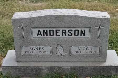 ANDERSON, AGNES - Lincoln County, South Dakota | AGNES ANDERSON - South Dakota Gravestone Photos