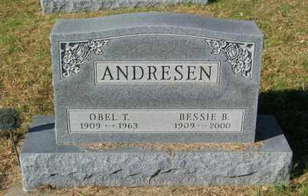 ANDRESEN, OBEL T - Lincoln County, South Dakota   OBEL T ANDRESEN - South Dakota Gravestone Photos