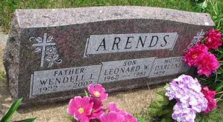 ARENDS, LEONARD W. - Lincoln County, South Dakota | LEONARD W. ARENDS - South Dakota Gravestone Photos