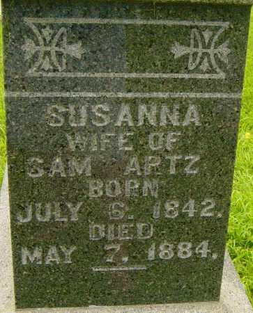 ARTZ, SUSANNA - Lincoln County, South Dakota | SUSANNA ARTZ - South Dakota Gravestone Photos