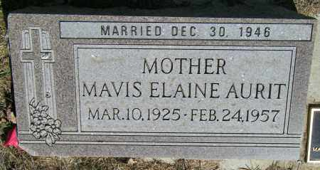AURIT, MAVIS ELAINE - Lincoln County, South Dakota | MAVIS ELAINE AURIT - South Dakota Gravestone Photos