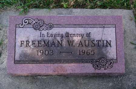 AUSTIN, FREEMAN - Lincoln County, South Dakota | FREEMAN AUSTIN - South Dakota Gravestone Photos