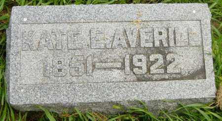 AVERILL, KATE E - Lincoln County, South Dakota | KATE E AVERILL - South Dakota Gravestone Photos