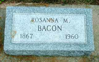 BACON, ROSANNA M. - Lincoln County, South Dakota | ROSANNA M. BACON - South Dakota Gravestone Photos