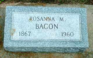 BACON, ROSANNA MINNETTA - Lincoln County, South Dakota | ROSANNA MINNETTA BACON - South Dakota Gravestone Photos