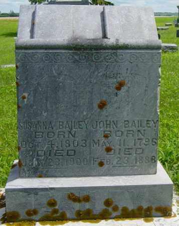 BAILEY, JOHN - Lincoln County, South Dakota   JOHN BAILEY - South Dakota Gravestone Photos