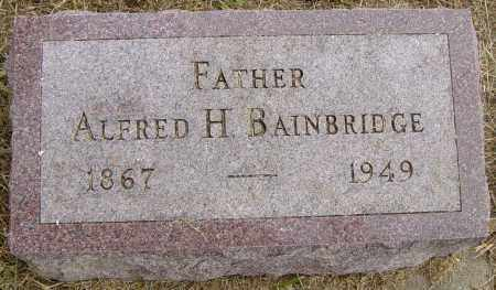 BAINBRIDGE, ALFRED H - Lincoln County, South Dakota   ALFRED H BAINBRIDGE - South Dakota Gravestone Photos