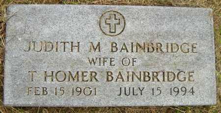 BAINBRIDGE, JUDITH M - Lincoln County, South Dakota   JUDITH M BAINBRIDGE - South Dakota Gravestone Photos
