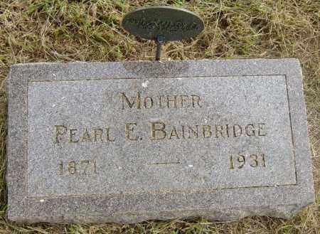 BAINBRIDGE, PEARL E - Lincoln County, South Dakota | PEARL E BAINBRIDGE - South Dakota Gravestone Photos