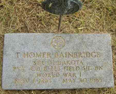 BAINBRIDGE, T HOMER - Lincoln County, South Dakota | T HOMER BAINBRIDGE - South Dakota Gravestone Photos