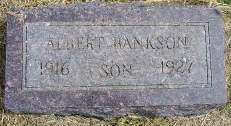 BANKSON, ALBERT - Lincoln County, South Dakota   ALBERT BANKSON - South Dakota Gravestone Photos