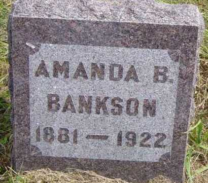 BANKSON, AMANDA B - Lincoln County, South Dakota | AMANDA B BANKSON - South Dakota Gravestone Photos