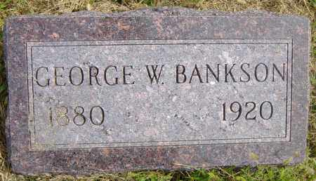 BANKSON, GEORGE W - Lincoln County, South Dakota | GEORGE W BANKSON - South Dakota Gravestone Photos