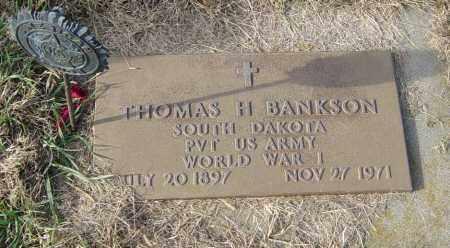 BANKSON MILITARY, THOMAS H - Lincoln County, South Dakota | THOMAS H BANKSON MILITARY - South Dakota Gravestone Photos