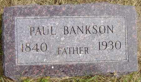 BANKSON, PAUL - Lincoln County, South Dakota | PAUL BANKSON - South Dakota Gravestone Photos