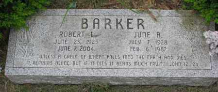 BARKER, JUNE A. - Lincoln County, South Dakota | JUNE A. BARKER - South Dakota Gravestone Photos
