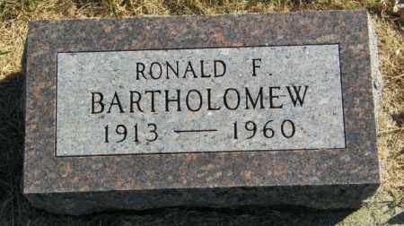 BARTHOLOMEW, RONALD F - Lincoln County, South Dakota | RONALD F BARTHOLOMEW - South Dakota Gravestone Photos
