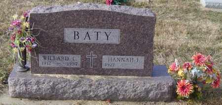 BATY, WILLARD C - Lincoln County, South Dakota | WILLARD C BATY - South Dakota Gravestone Photos