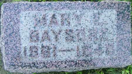 BAYSORE, MARY E - Lincoln County, South Dakota | MARY E BAYSORE - South Dakota Gravestone Photos