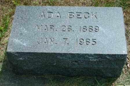 BECK, ADA - Lincoln County, South Dakota   ADA BECK - South Dakota Gravestone Photos