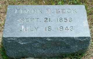 BECK, FRANK M. - Lincoln County, South Dakota | FRANK M. BECK - South Dakota Gravestone Photos