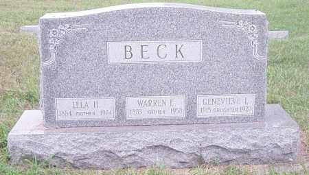 BECK, WARREN E - Lincoln County, South Dakota | WARREN E BECK - South Dakota Gravestone Photos