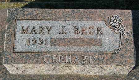 BECK, MARY J - Lincoln County, South Dakota | MARY J BECK - South Dakota Gravestone Photos
