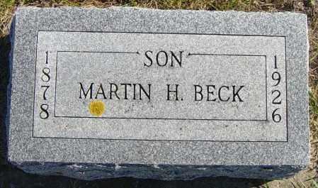 BECK, MARTIN H - Lincoln County, South Dakota | MARTIN H BECK - South Dakota Gravestone Photos