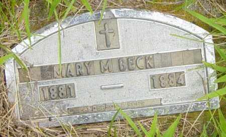 BECK, MARY M - Lincoln County, South Dakota | MARY M BECK - South Dakota Gravestone Photos