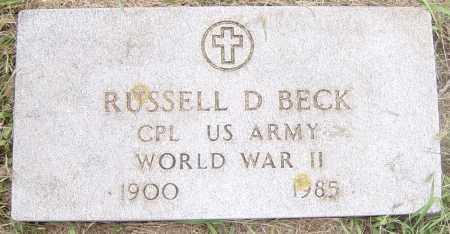 BECK, RUSSELL D - Lincoln County, South Dakota | RUSSELL D BECK - South Dakota Gravestone Photos