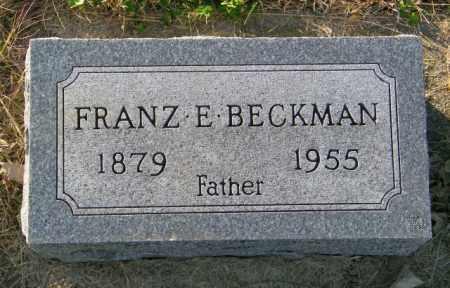 BECKMAN, FRANZ E. - Lincoln County, South Dakota | FRANZ E. BECKMAN - South Dakota Gravestone Photos