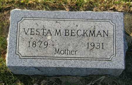 BECKMAN, VESTA M. - Lincoln County, South Dakota | VESTA M. BECKMAN - South Dakota Gravestone Photos