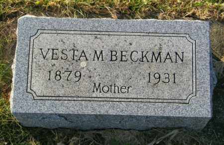 BECKMAN, VESTA M. - Lincoln County, South Dakota | VESTA M. BECKMAN - South Dakota Gravestone Photos