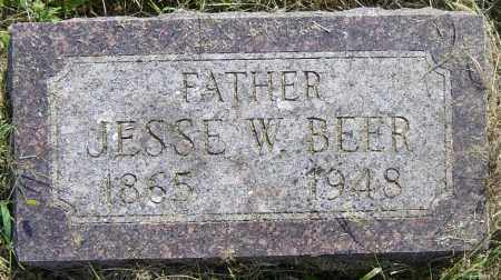 BEER, JESSE W - Lincoln County, South Dakota | JESSE W BEER - South Dakota Gravestone Photos