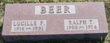 BEER, LUCILLE P - Lincoln County, South Dakota   LUCILLE P BEER - South Dakota Gravestone Photos