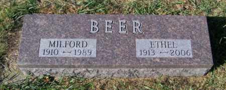 BEER, MILFORD - Lincoln County, South Dakota | MILFORD BEER - South Dakota Gravestone Photos