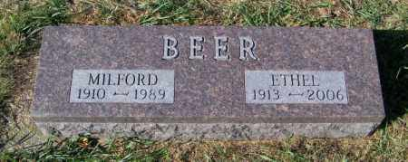 BEER, MILFORD - Lincoln County, South Dakota | MILFORD BEER - South Dakota Gravestone Photos
