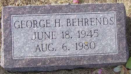 BEHRENDS, GEORGE H - Lincoln County, South Dakota   GEORGE H BEHRENDS - South Dakota Gravestone Photos