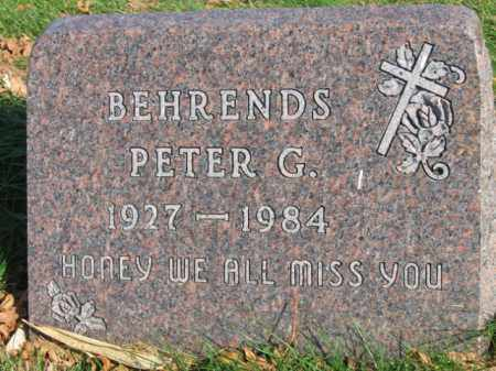 BEHRENDS, PETER G - Lincoln County, South Dakota | PETER G BEHRENDS - South Dakota Gravestone Photos