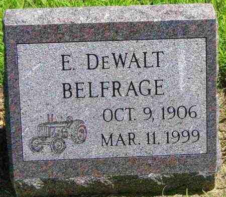 BELFRAGE, E DEWALT - Lincoln County, South Dakota | E DEWALT BELFRAGE - South Dakota Gravestone Photos