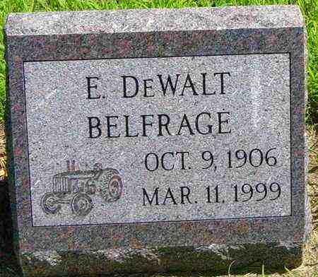 BELFRAGE, E DEWALT - Lincoln County, South Dakota | E DEWALT BELFRAGE - South Dakota Gravestone Photos