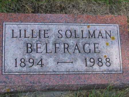 BELFRAGE, LILLIE - Lincoln County, South Dakota | LILLIE BELFRAGE - South Dakota Gravestone Photos