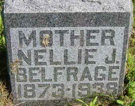 BELFRAGE, NELLIE J - Lincoln County, South Dakota | NELLIE J BELFRAGE - South Dakota Gravestone Photos