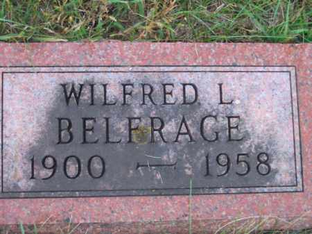 BELFRAGE, WILFRED L - Lincoln County, South Dakota | WILFRED L BELFRAGE - South Dakota Gravestone Photos