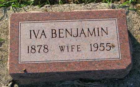 BENJAMIN, IVA - Lincoln County, South Dakota | IVA BENJAMIN - South Dakota Gravestone Photos